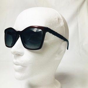 Chanel Black Burgundy Beaded Sunglasses #28
